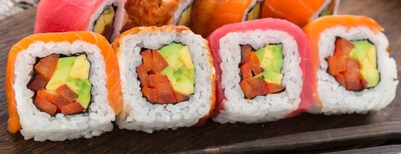 Avocado and Smoked Salmon Sushi