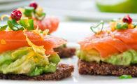 Avocado and Smoked salmon on Rye