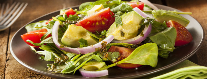 Avocado and Lettuce Salad