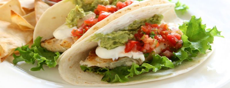 Low-carb Tacos with Avocado and Grilled Fish