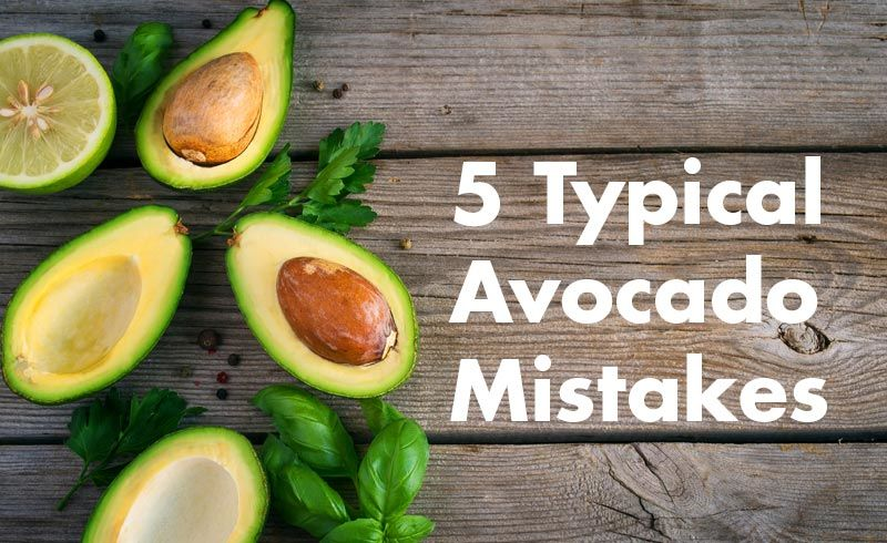 5 Typical Avocado Mistakes