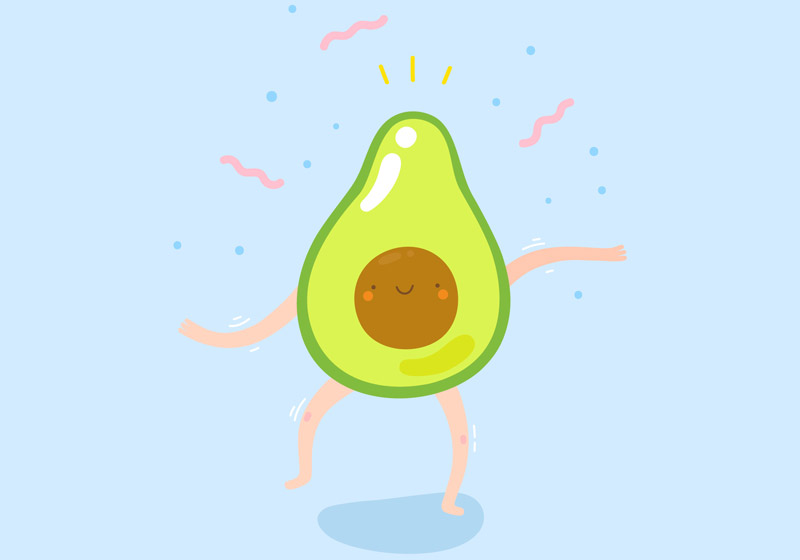 Happy New Year Avocado